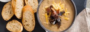 Cheesy Biltong Soup