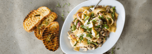 Creamy Vegetables with Tagliatelle