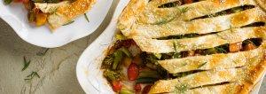 Roasted Mixed Veggie Pie